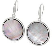 Honora Black Mother-of-Pearl Round Drop Earrings, Sterling - J348540