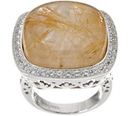 DeLatori Sterling Silver 29.20 cttw Gemstone Ring - J350440