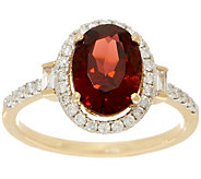 2.30 carat Garnet & 1/4 cttw Diamond Ring, 14K Gold - J353540