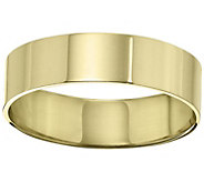 Womens 18K Yellow Gold 6mm Flat Wedding Band - J376740