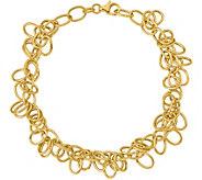 Italian Gold Oval Link Dangle Bracelet 14K, 5.6g - J377640