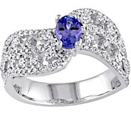 0.40 ct Tanzanite & 7/10 cttw Diamond Ring, 14K - J377740