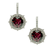 Judith Ripka Sterling Rhodolite Lever Back Earrings - J379740