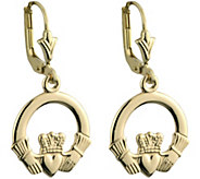 Solvar 14K Claddagh Drop Earrings - J380840