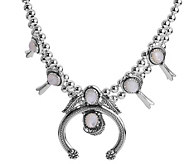 American West Sterling Choice of Color Squash Blossom Necklac - J381140