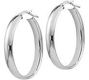 Italian Gold 1-3/8 Polished Oval Hoop Earrings14K, 3.4g - J382240