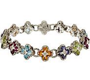 Barbara Bixby Sterling & 18K 7.30 cttw Gemstone Flower Bracelet - J56140
