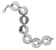 Honora 8 Reversible Mother-of-Pearl Stainless Steel Link Bracelet - J271041