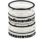 Susan Graver Set of 15 Goldtone or Silvertone Bangles - J281041