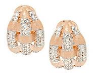 VicenzaSilver Sterling Gemstone Satin Weave Earrings - J285141