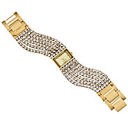 Joan Rivers Couture Chic Multi-Strand Crystal Watch - J286941