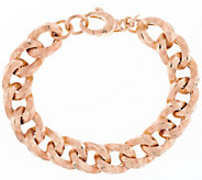 Vicenza Silver Sterling 7-1/4 Textured Curb Link Bracelet, 23.3g - J290941