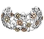 Carolyn Pollack Mixed Metal Flower Cuff - J292041
