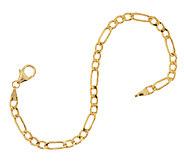Vicenza Gold 6-3/4 Polished Figaro Chain Bracelet 14K Gold, 1.8g - J293441