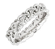 Simply Stacks Sterling Silver Polished Intertwined Heart Ring - J299141