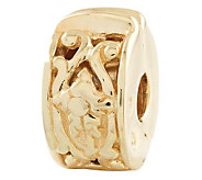 Prerogatives Gold-Plated Sterling Hinged FloralMotif Clip Bead - J302641