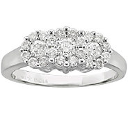 Fantasy Flower Diamond Ring, 3/4cttw, 14K Gold, by Affinity - J305741