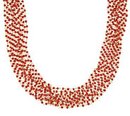 Multi-Chain Colorful India Bead Necklace by Garold Miller - J306641