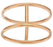 14K Gold Polished Double Band Bar Ring - J319941
