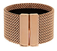 As Is Bronzo Italia Large Bold Woven Mesh Cuff Bracelet - J321841