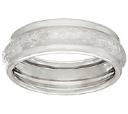 EternaGold Crystal Cut & Polished Band Ring, 14K White Gold - J322241