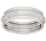 EternaGold Crystal Cut & Polished Band Ring, 14K White Gold - J322241