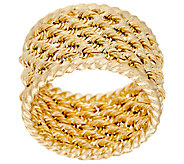 14K Gold 5 Row Rope Band Ring w/ Twisted Border - J322341