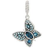 Judith Ripka Sterling 2.35 cttw Butterfly Charm - J322841