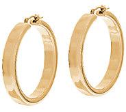 Oro Nuovo 1-1/2 Polished Round Hoop Earrings, 14K - J324641