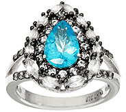 As Is Graziela Gems Apatite & White Zircon Sterling Ring, 2.00cttw - J327041