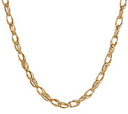 As Is EternaGold 18 Textured Multi- Link Necklace 14K Gold, 7.8g - J328541