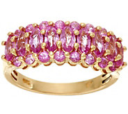Marquise & Round Pink Sapphire Band Ring 14K, 1.55 cttw - J329441