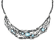 Sterling Silver Gemstone Statement Necklace by Or Paz, 30.0g - J330241