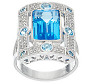 Jane Taylor Emerald Cut Gemstone Sterling Ring, 3.45 ct - J330941