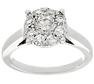 Round Diamond Cluster Ring, 14K, 9/10 cttw, by Affinity - J331541