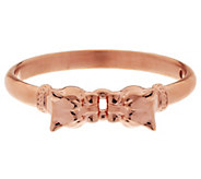 As Is Oro Nuovo Small Interlocking Panther Head Bangle, 14K - J332341