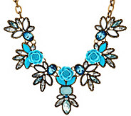 As Is Joan Rivers Vintage Style Roses Necklace w/ 3 Extender - J333041