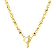 Judith Ripka Verona 18 14K Clad Byzantine Necklace 26.0g - J334441