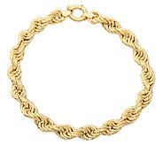 EternaGold 7-3/4 Bold Rope Bracelet 14K Gold,8.6g - J337441