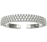 Judith Ripka Sterling 8.50 cttw 118-Facet Diamo nique Cuff - J337941