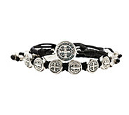 My Saint My Hero Blessing Silvertone Bracelet Set - J339241