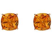Cushion Gemstone Basket Stud Earring, 14K Gold - J340341