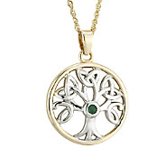 Solvar Two-Tone Family Tree Pendant 14K Gold - J340741