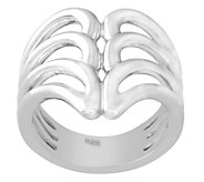 Sterling Silver Bold Wave Ring - J342641
