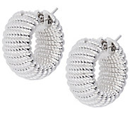 Arte dOro Ribbed Hoop Earrings, 18K - J342941
