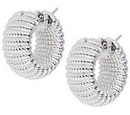 Arte dOro Ribbed Hoop Earrings, 18K - J342941