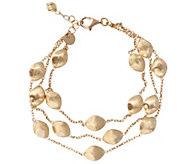 Arte dOro 6-3/4 Satin Bead Multi-strand Bracelet, 18K 11.7g - J343141