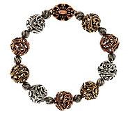 Carolyn Pollack Mixed Metal 6-1/2 Signature Bead Bracelet - J343241