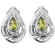 Hagit Sterling 1.00 cttw Peridot Earrings - J343641