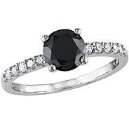 Round Black Diamond Ring, 14K, 1.20 cttw, by Affinity - J344141